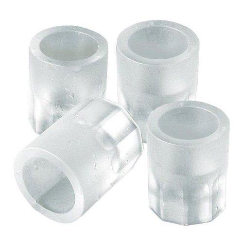 SODIAL (R) Stampo 4 bicchierino di ghiaccio Forma in silicone vassoio feste colore casuale