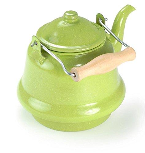 GSI Outdoors Teekessel mit Klapphenkel Kanne, Hellgrün, 1.4 Liter