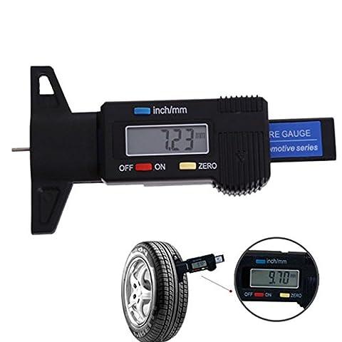 LCD Display Digital Tiefenmesser Auto Reifenprofil Bremse Pad Schuh Pad tragen 0–25mm Neu