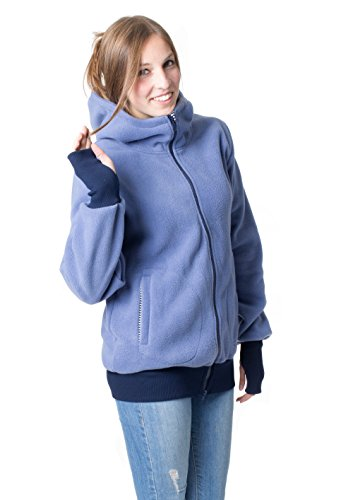 GoFutureWithLove - Veste - Femme Jeansblau mit marineweißen Streifen