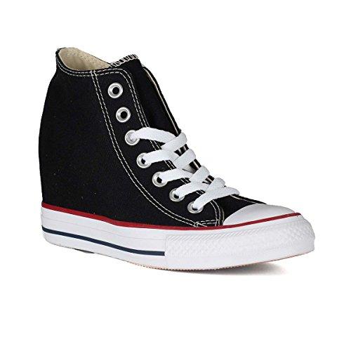 Converse Damen-sneaker, Keil (Converse Unisex-Erwachsene All Star Mid Lux High-Top, Schwarz, 37 EU)