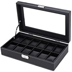Songmics 12 Watch Storage Box Case Bracelet Bangle Display tray JWB302B