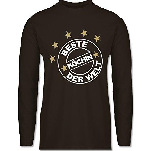 Küche - Beste Köchin der Welt - Longsleeve / langärmeliges T-Shirt für Herren Braun