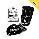 Protège Dents + Bandes de Boxes 4m 50 [Kit Boxe adulte]- Dentier et Bandage sous gants pour protection mains, poignets et dent - Pour Sport de Combat/Contact: Kick Boxing, Anglaise, Muay Thai, MMA