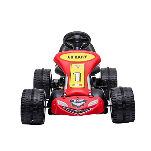 Kinder Go Karts Pedal Powered Fahrrad 4 Rad Racer Spielzeug Stealth Pedal Powered Outdoor Beach Racer, (Rot,04)