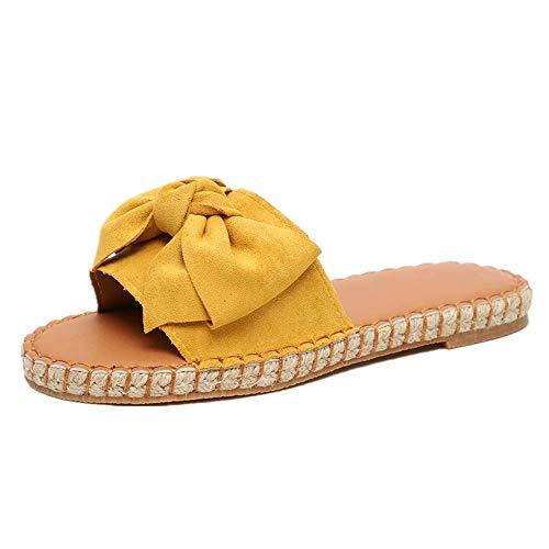 Sandalias Mujer Verano Planas Piel Chanclas Punta Abierta Plataformas Bajo Zapato De Playa Piscina Al...