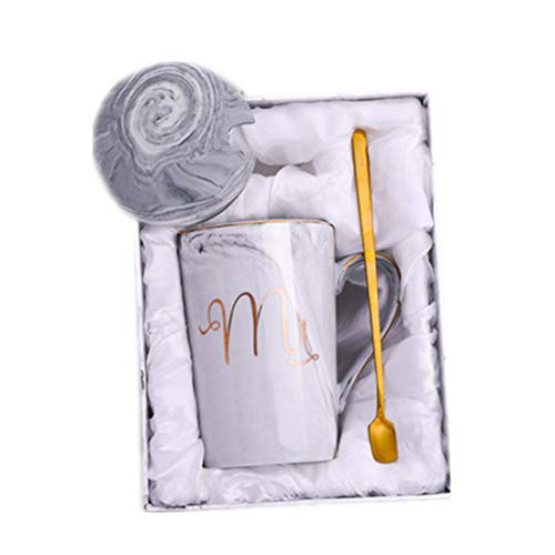 k Tasse Keramik Becher Löffel mit Deckel Geschenkbox Verpackung Kaffeetasse ()