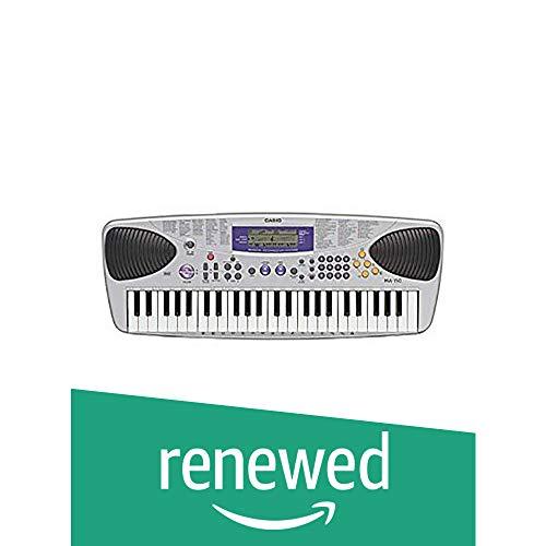 (Renewed) Casio MA-150XH2 Electronic Keyboard with Free Adapter (Silver)