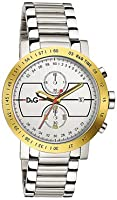 Reloj Dolce & Gabbana D&G Dolce&Gabbana de cuarzo para hombre con correa de acero inoxidable, color plateado de D&G Dolce&Gabbana