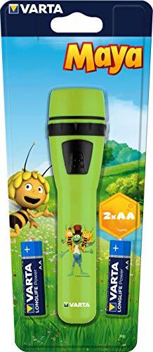 Taschenlampe, geeignet für Kinder inkl. 2x Longlife Power AA Batterien, für Kinderzimmer Kindergeburtstag, 5 mm LED ()