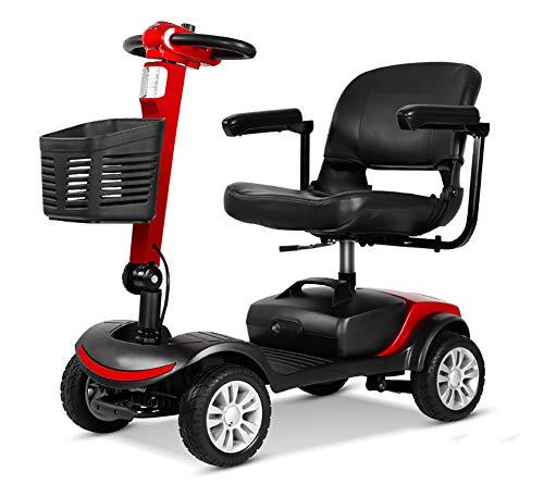 BMDHA Elektro Scooter Für Senioren, Faltbar 20 Ampere Lithiumbatterie -Endurance 30 Km,A