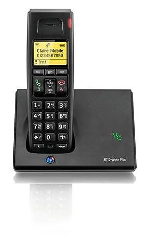 BT Diverse 7110 Plus Single DECT Phone - Black