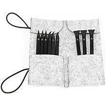 Spudger Profesional de plástico para la apertura del ordenador portátil Tablet iPad iPhone Reparación x 9 piezas con Handy Tool Bag