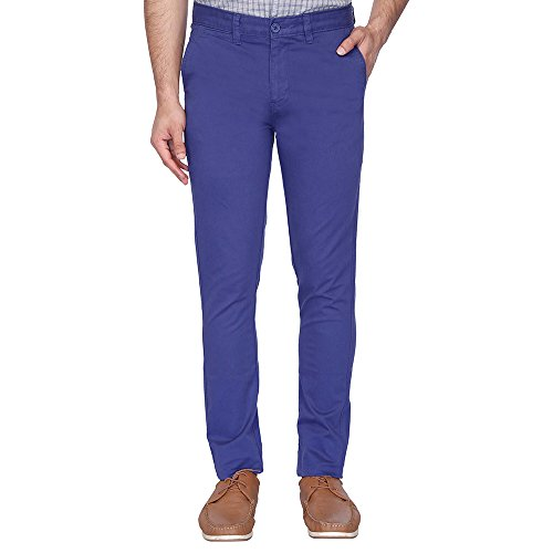 STOP To Start By Shoppers Stop Mens 5 Pocket Solid Chinos