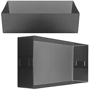 Promobo -Boite de Rangement Casier Pliable Box Pour Tiroir Etagère Trieur Courrier Noir