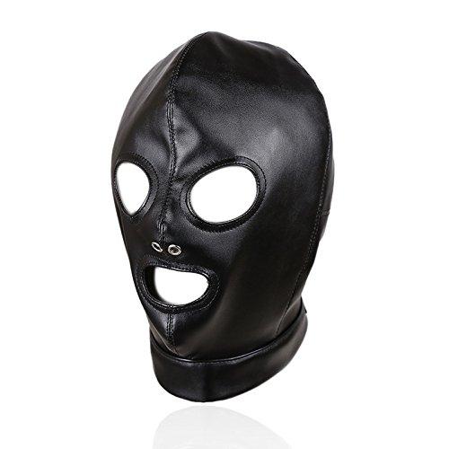(Schwarz Breathable Augenbinde Gesicht Abdeckung Elastic Gesichtsmaske Cosplay für Paare)