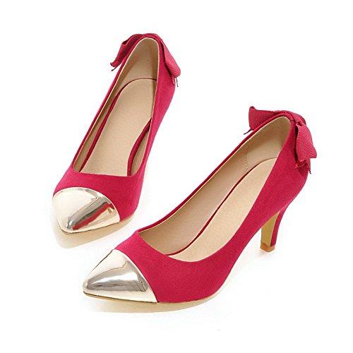 Adee Pink toe Pointed Damen Polyurethan Pumpen Schuhe rYg0Srqxf