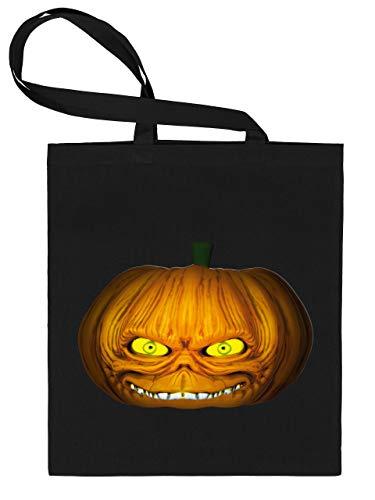 Golebros Halloween Killer Kürbis Pumkin Face 5960 Süßigkeiten Bonbons Tasche Stoffbeutel Tragebeutel Beutel Kinder Schwarz
