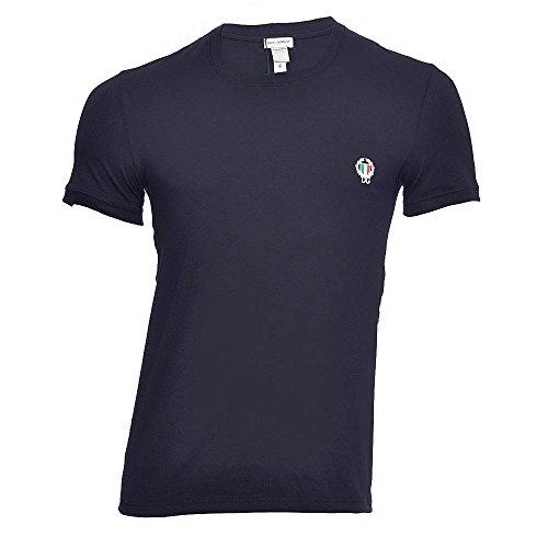 Dolce&Gabbana Underwear Herren T-Shirt, Sport Crest Rundhals - Marine(Blue Navy): Größe: 6 (Large)