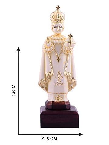 Infant von Prag Statue Jesus Figur katholischen Idol Visitenkarte L Christian religiöse 18cm x 5,5cm L von Affaires ideal Geschenk für Weihnachten & Home/Office Dekor g-470
