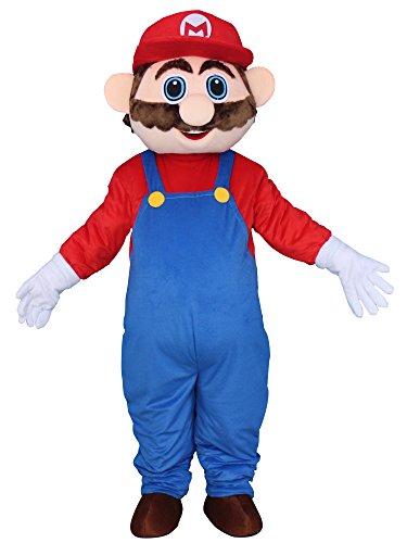 Happy Shop EU Super Mario Adult Halloween Maskottchen Kostüm Kleid Outfit