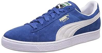 Puma Men's Suede Classic+ Olympian Blue and White Sneakers - 10 UK/India (44.5 EU) (35263464)
