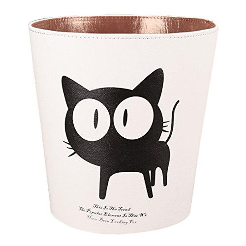 Anna Shop 10L Papierkörbe Kinder Papierkorb Wasserdicht Haushalt Leder Mülleimer Dekorativ Papierkorb für Kinderzimmer Toilette Badezimmer