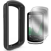 TUSITA Custodia per Garmin Edge 1030 - Cover Protettiva in Silicone per Pelle - Accessori per GPS Bike Computer