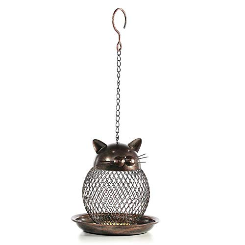 CampHiking Hängende Vogelfutterstationen, Vogelfutterstationen - Metal Bird Feeder Wild Balcony für 360 Grad Fütterung Outdoor Indoor