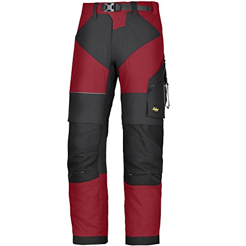 snickers-69031604052-size-52-flexiwork-work-trousers-chili-red-black