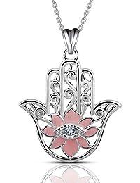 EUDORA Harmony Ball Eudora Anchor S925 Sterling Silver Guiding Light Pendant Necklace with 18