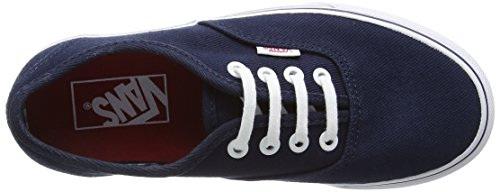 Vans Authentic, Sneakers Basses Mixte Adulte Bleu (Twill & Gingham/Dress Blues/True White)