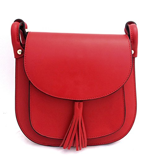 Borsa DEEP ROSE in Vera Pelle Donna Made in Italy a spalla mano shopper pelle con tracolla regolabile modello GIADA