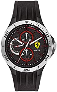 Scuderia Ferrari Men's Black Dial Black Silicone Watch - 83