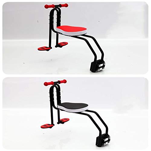Joyfitness Fahrrad Kindersitz Sicherheit vorne Mountainbike Verstellbarer Kindersitz,Red,44x5x14cm