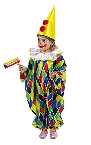 Festartikel Müller Karneval Kinder Clown Overall Narren Kostüm Größe 92