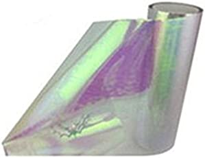 Auto5D Chameleon Car Headlight Tail Light Vinyl Shiny Rainbow Color Tint Film 30cm X 120cm 3 Layered (Transparent)