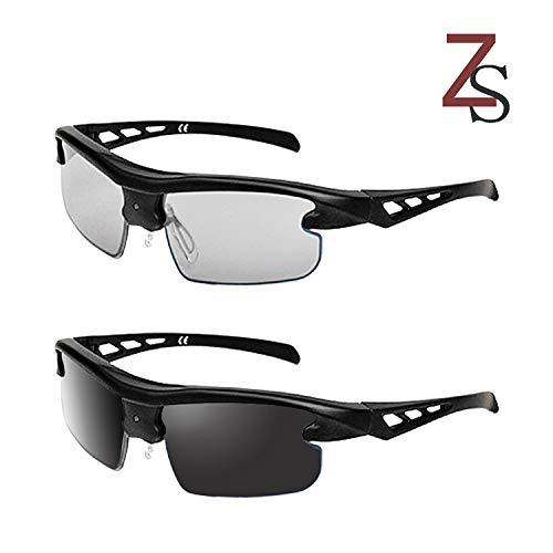 Z&S Polarisierte Sport-Sonnenbrille Smart 0,1 Sekunden Farbe Männer und Frauen Modelle Nachtsicht Fahrer Fahren Fahren Radfahren Angeln,B
