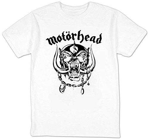 Motorhead - Pig War Flat Adult Short Tee de manga en blanco,...