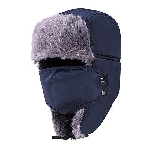 Mouchao Winter pelzmützen Winddicht Dicke warme Winter Schnee Frauen mütze Gesicht Maske männer Hut (Schnee-hut Gesichtsmaske Männer)