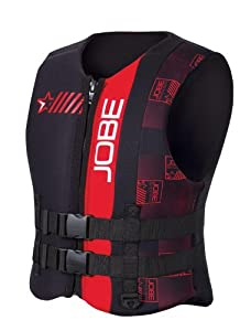 Jobe Progress Neo Vest Men - RED Neopren Weste - Boot Schwimmweste Wakeboard...