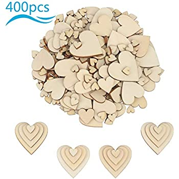 10mm-40mm 50 Mixed Size WoodenFlowers Wedding Table Decoration Scatter Craft
