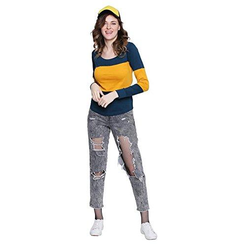 The Dry State Women's Plain Slim fit T-Shirt (WG1632_Multi-Coloured_Medium)