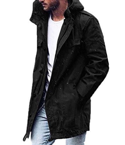 Huateng Men Casual Kapuzenjacke mit Reißverschluss-Cardigan