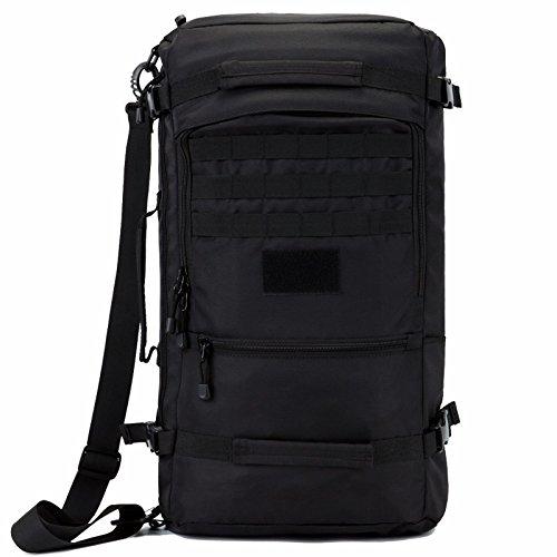 Borsa di alpinismo outdoor maschio/doppio femminile borsa a tracolla viaggiare zaino grande capacità del computer di viaggio zaino pack, nero 40L 50*27*20cm (a) 50L 55*30*22cm