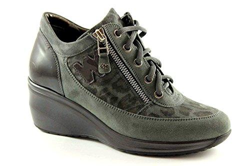 MELLUSO WALK R0553 mystère femme chaussures de sport wedge attaches Grigio