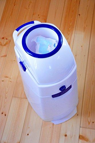 Geruchsdichter Windeleimer Diaper Champ regular silber – für normale Müllbeutel - 4