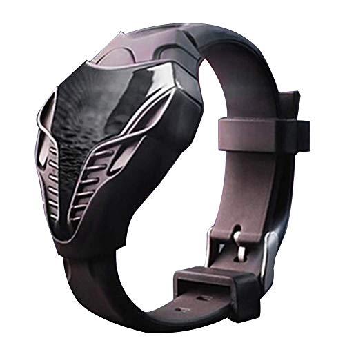 hwarz LED Digitaluhr Mode Iron Man Dreieck Ziffernblatt Sport Armbanduhren mit Silikonband Best Geschenk für Vater Boyfriend ()