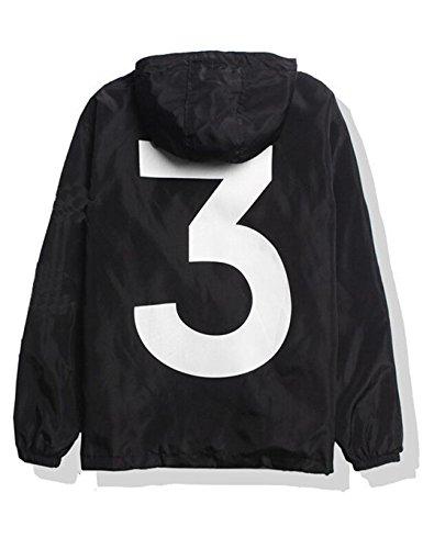 ZEARO Mode Windjacke Jacke Herren Y-3 Kanye West Skateboard Hiphop YEEZUS Streetwear Freizeit Outwear Oberbekleidung Herbst Frühling