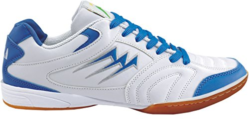 Agla F/40 Scarpe Da Futsal Indoor, Bianco/Blu, 24.7 cm/39.5
